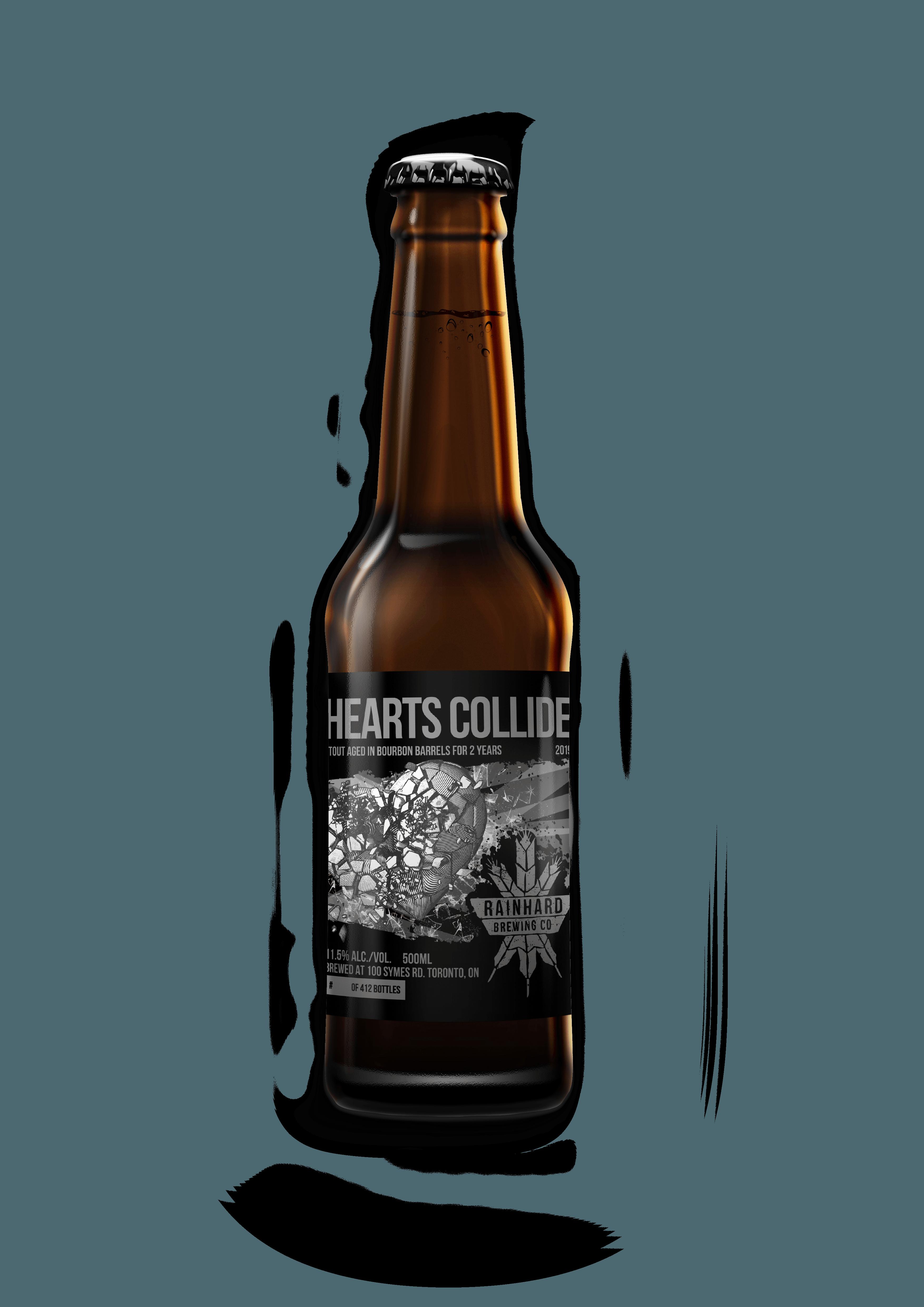 Image of Bourbon barrel-aged Hearts Collide bottle