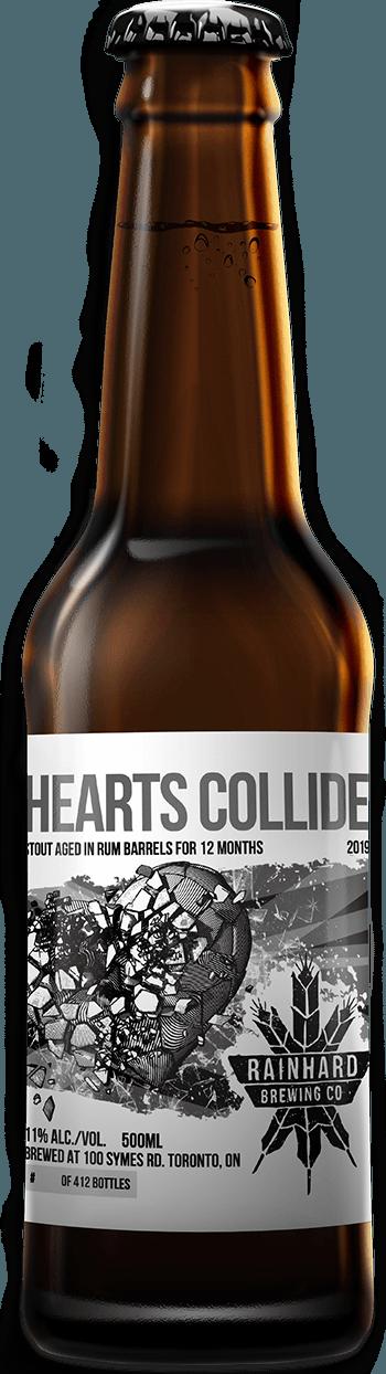 Image of Rum barrel-aged Hearts Collide bottle