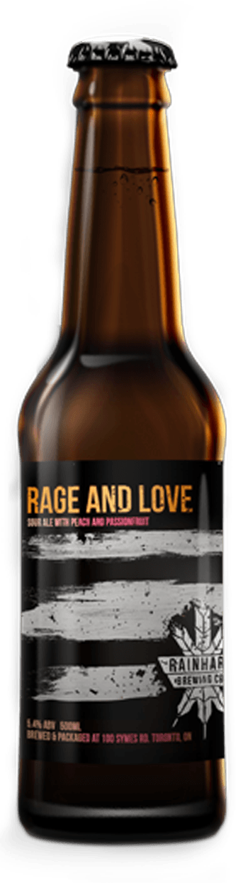 Image of Rage and Love Passionfruit + Peach bottle